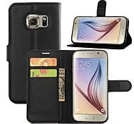 padrão de lichia caso pu w / Stand / slots de cartão para Samsung Galaxy S7