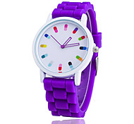 Xu™ Women's Fashion Chromatic Pills Pointer Silicone Quartz Watch Cool Watches Unique Watches