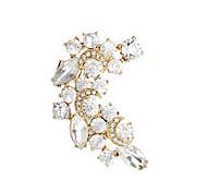 Ohr-Stulpen Kristall Perle Strass vergoldet 18K Gold Imitation Diamant Aleación Modisch Gold Silber Schmuck 2 Stück