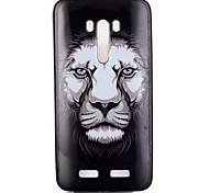 leão padrão de caixa do telefone TPU para zenfone 2 selfie zd551kl