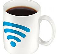 wifi señala Keller Ideas WiFi signo de cambio de color de cerámica taza de la taza de cerámica