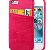 KARZEA™Solid PU Leather Back Cover Case with Card Holder and One Stand for iPhone5/5S (Assorted Colors)