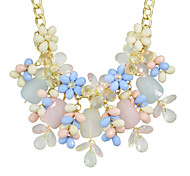Beautiful Resin Chunky Statement Flower Necklace