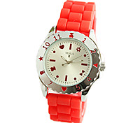 Jelly Tape Shell Surface Design Lovely Ladies Watch