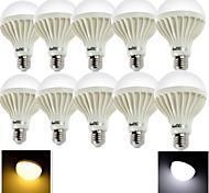 5W E26/E27 LED Kugelbirnen 9 SMD 5630 380 lm Warmes Weiß / Kühles Weiß Dekorativ AC 220-240 V 10 Stück