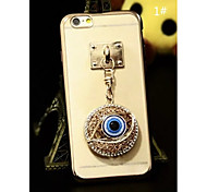 Charm Pendants With Plating TPU Back Case For Iphone6,6S(1#~4#)(Assorted Color)