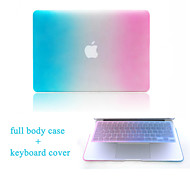 "High Quality Hard Protective Matte Gradient Color Full Body Case and TPU Keyboard Cover for 11.6""/13.3"" MacBook Air"