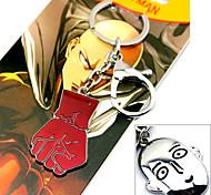 Больше аксессуаров Вдохновлен Один удар Человек Косплей Аниме Косплэй аксессуары Брелок Красный / Серебро Сплав Мужской