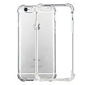 Назначение iPhone X iPhone 8 iPhone 8 Plus iPhone 6 iPhone 6 Plus Чехлы панели Защита от удара Прозрачный Задняя крышка Кейс для Сплошной