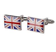 Jewelry Brass Material, The Union Flag Shape Cufflinks