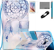 Para Soporte de Coche / Cartera / con Soporte / Flip / Diseños Funda Cuerpo Entero Funda Atrapasueños Dura Cuero Sintético SamsungS6 edge