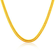 18K Gold Plated Necklace Men& Women Simple Jewelry Wholesale New Trendy 55 CM&7 MM Wide Cuban Link Chain Necklace N50131
