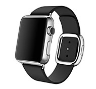 Fashion Replacement Apple Watch Band With Modern Buckle Leather Wristband Strap Size S