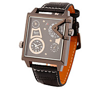 Fire Leisure and Fashion Men'S Watch/Two Time Zones Square Watch