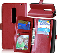 KARZEA™ Solid PU Leather Case with Card Holder and Stand for Moto X Style(Assorted Colors)