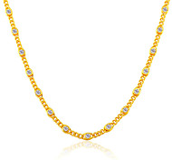 Luxury Crystal New 18K Gold Plated Fashion Jewelry Party Women Gift Wholesale Unique Chain Necklace N50120