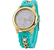 Men's Fashion Hot Geneva Silicone Chain Casual watch