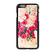 Flower Design Aluminum Hard Case for iPhone 6/6S