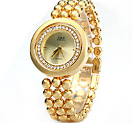 Diamond Women Quartz Chain Watch with Stainless Steel Body Rotated Dial