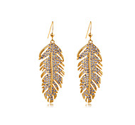 Full Crystal Zircon Earrings Drop Earrings for Women Leaves Earrings Fashion Jewelry Accessories