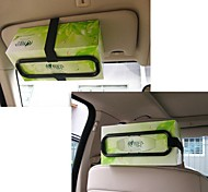 ZIQIAO Fashion Car Visor Tissue Paper Plastic Box Holder for Back Seat
