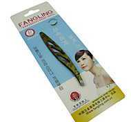 Eyebrow Tweezer Stainless Steel 1pcs Ellipse 8x2x2cm Normal Yellow