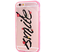 """Smile""Phrase Design LED Flicker Back Cover+Bumper Cover for IPhone 6/6S"
