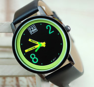 Women's Watch The Latest British Style Imported Fluorescent Green Black Belt Watch Movement Cool Watches Unique Watches