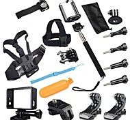 Gopro Accessories 17 in 1 Acessorios set For Sj4000 Xiaomi yi Go pro Hero4 3+ 2 xiaomi yi