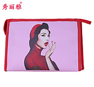 Makeup Storage Cosmetic Bag / Makeup Storage PU Cartoon Quadrate 19x11.6x10cm Blue / Purple / Rose