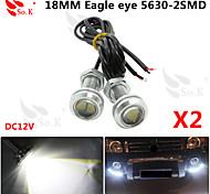 2 x 9W LED ojo de águila de niebla del coche luz diurna DRL señal de estacionamiento de reserva reversa