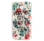 Flowers Letters Pattern TPU Soft Case Phone Case for Samsung Galaxy J5/ GALAXY Core Prime
