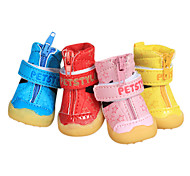 Dog Shoes & Boots Fashion Pink Winter PU Leather