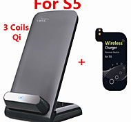 Tesla1856 Qi 3 Coils Wireless Charging Dock and receiver for Samsung Galaxy S5