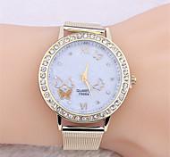 genève papillon maille bracelet horloge montre à quartz analogique masculino Relojes montre-bracelet d'hommes de femmes