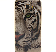 White tiger Design TPU+IMD Soft Case for Samsung Galaxy A9/A9000