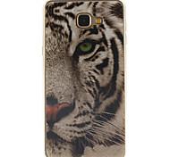 White tiger Design TPU+IMD Soft Case for Samsung Galaxy A9/A9000