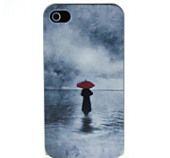 A man with a red umbrella Pattern Hard Case for iPhone 4/4S
