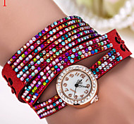 Ladies' Watch Multicolor Diamond Beads Korea Fashion Watch