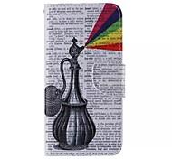 colorato disegno pu fondina in pelle tra cui uno anti-polvere spina uno stilo per Samsung nota 4/5 nota (colore casuale)