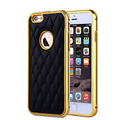 Metal Case 2 In 1 Style Fashion Grid Skins Aluminum Frame Leather Case For iPhone 5/5S  (Assorted Colors)