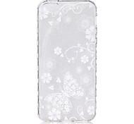 padrão de borboleta branca na meia-derrapante caso de telefone TPU para iphone se