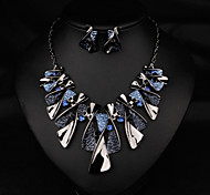 NANA High Quality Fashion Blue Butterfly Adornment Necklace Earrings Setclavicle Chain Including Necklaces And Earrings
