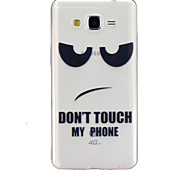 Don't touch my cell phone Pattern TPU Relief Back Cover Case for Galaxy Grand Prime/Galaxy Core Prime/Galaxy J5