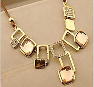 MPL The new Korean Fashion Square diamond necklace geometric crystal