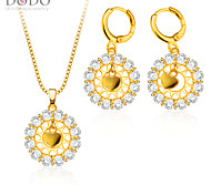 Austrialia crystal Pendants Necklaces Earrings Jewelry Set gifts 18K Gold Plated Fashion Cubic zirconia S20126
