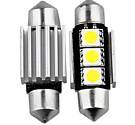 10 Canbus No Error 3 Smd Led Interior Bulb Light 36Mm