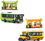 Smart City Bus Happy Child Joy Plastic Format Assembling Building Block Toy For Boys Building Blocks Brick Toy Model