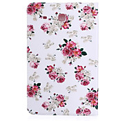 Piccoli fiori bianchi modello PU manica tablet materiale in pelle per Samsung Galaxy Tab 9.6 e (T560)
