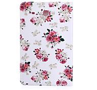 kleine witte bloemen patroon pu leer materiaal tablet hoes voor de Samsung Galaxy Tab e 9,6 (T560)